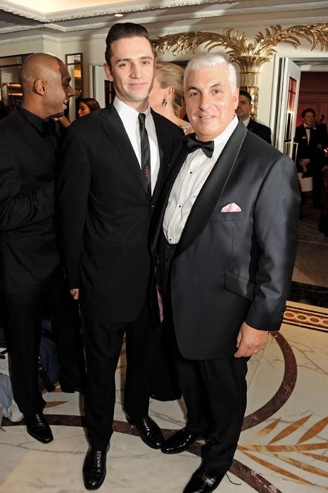 Mitch Winehouse and Reg Traviss at the Amy Winehouse Foundation Ball in central London.
