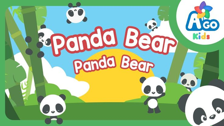 Panda Bear, Panda Bear - ESL Action verb song for kids to use in the classroom