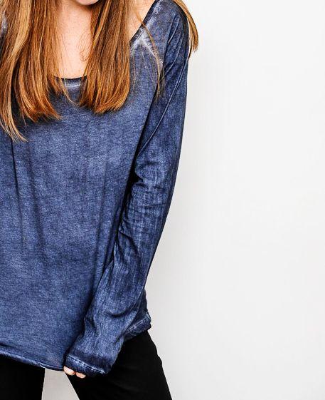blue bynamesakke long sleeve supima® cotton