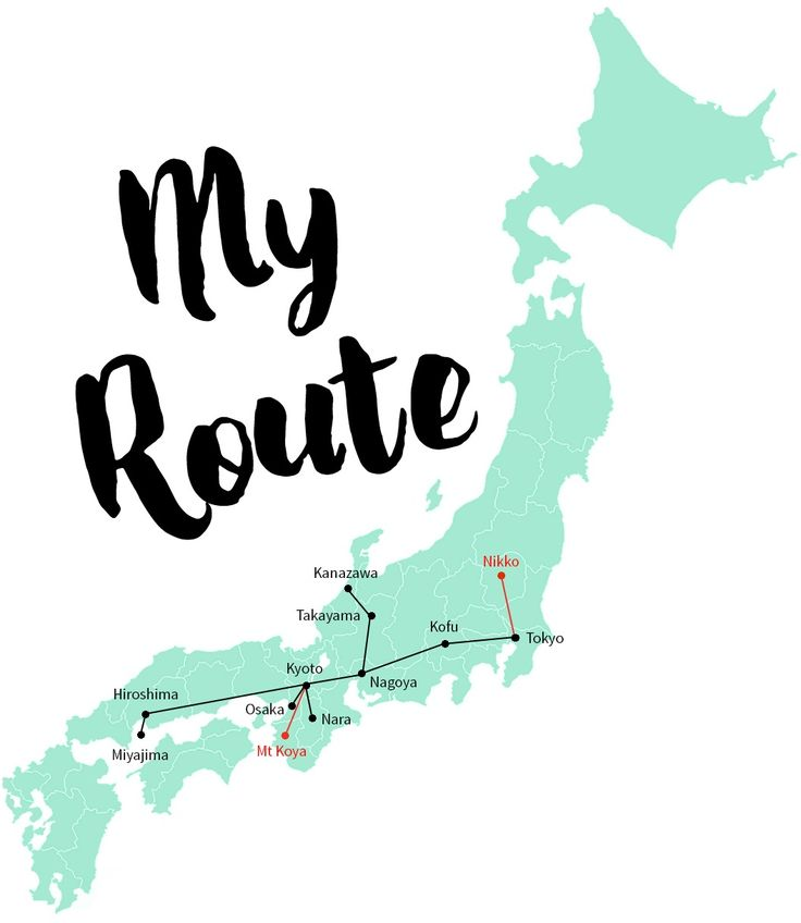 Awesome route for traveling through Japan via train
