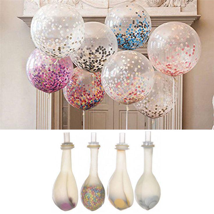 2Pcs Sequins Confetti Balloons Wedding Birthday Party Art Decoration Celebration