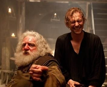 The Hollow Crown: King Henry IV (Part 1) Simon Russell Beale as Falstaf and Tom Hiddleston as Prince Hal --- My sister and I were discussing the other day the fact that Tom is such an exceptional actor when he LAUGHS at the tavern he doesn't even LOOK like he does in other films where he laughs. It's crazy!
