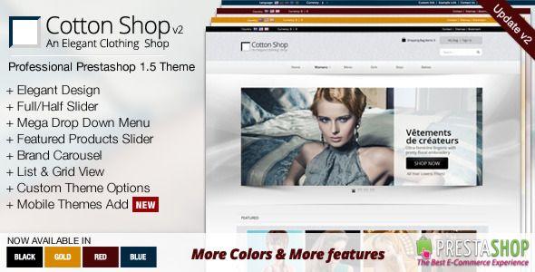 Cotton Shop - Elegant Prestashop 1.5 Theme