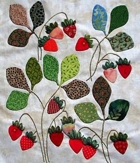 sweet strawberry quilt block
