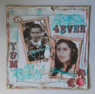 Lo 4ever, Layout scrap Love