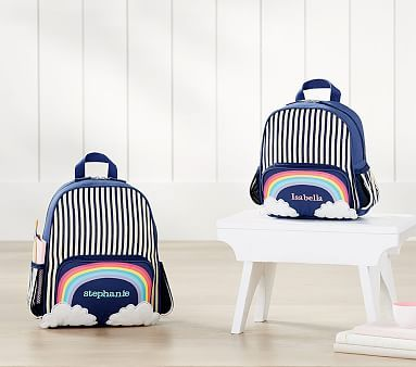 Striped Critter Navy Rainbow Backpack Baby Furniture