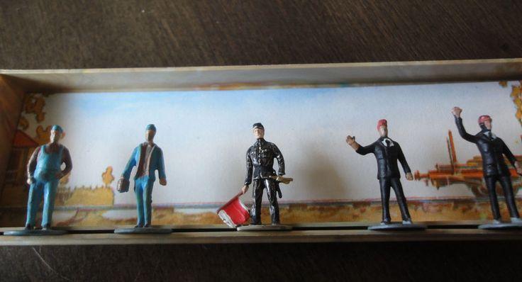 Vintage HO Scale Six Railway People/Workers Walter Merton Miniatures  #WalterMerton