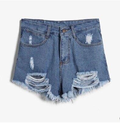 Free Shipping America Street Hop Casual Hole Denim Shorts $25.99 #wholesale#DaBu_Lady#shorts#hot selling#new design#freeship Fabric: Denim  Size S: Waist 66 cm, Hips 88 cm, Thigh circumference 58 cm, Pants length 29 cm Size M: Waist 70 cm, Hips 92 cm, Thigh circumference 60 cm, Pants length 29 cm Size L: Waist 74 cm, Hips 96 cm, Thigh circumference 62 cm, Pants length ...