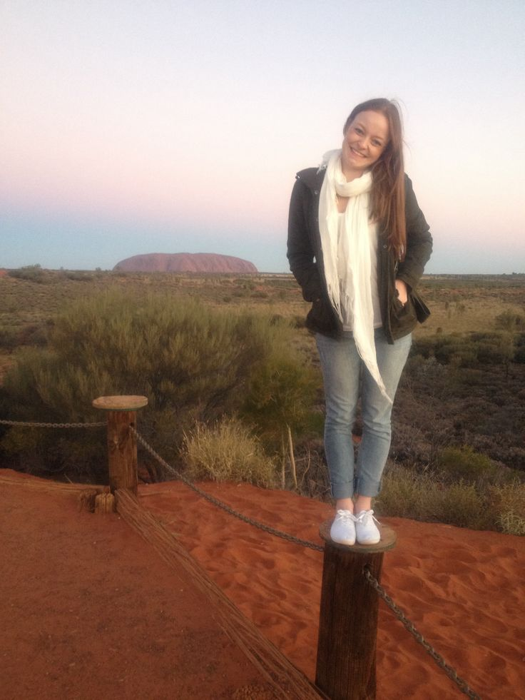 Watching the sunset for the first time in Uluru!