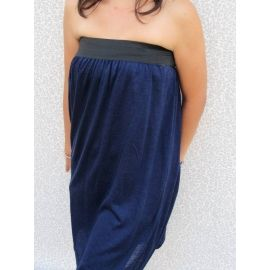 Long Skirt / Strapless Dress 2 in 1/ Blue