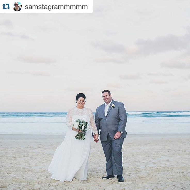 Real Bride Sam wearing a custom long sleeved gown from Wendy Makin Couture. Long sleeved wedding dress.