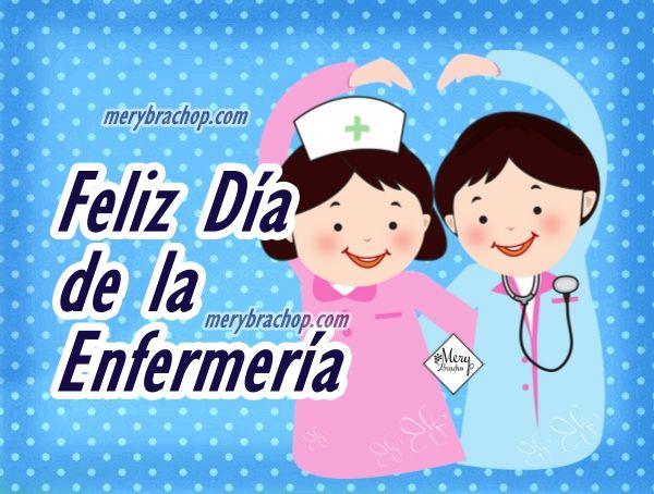 enfermero enfermera imagen con frases feliz dia
