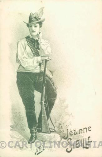Anglo-Boer-War-Transvaal-Woman-Soldier-postcard-cartolina-KS3484