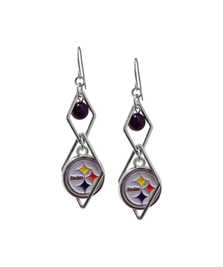 Take a look at this Pittsburgh Steelers Diamond-Shape Logo Drop Earrings today!