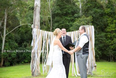 Again our Hessian / Lace Backdrop - the perfect backdrop for a ceremony http://www.marrighi.com.au/Wedding-event-decor/Backdrops-Rustic-Vintage.html