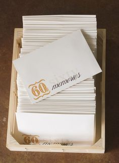 60 memories Did this for my Moms 75th Birthday. A real tear jerker...she loved it!! Maybe tweak it for moms 50th?