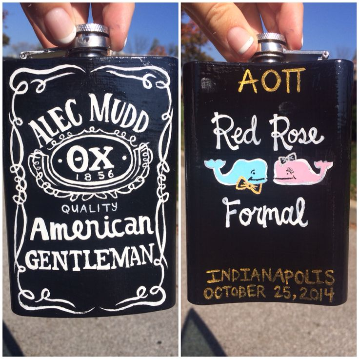 Painted a flask for my formal date