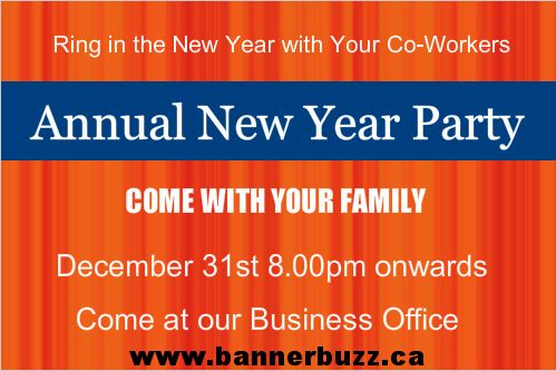 Decorate your stage with an annual party banner. Personalize your annual party banner online from www.bannerbuzz.ca