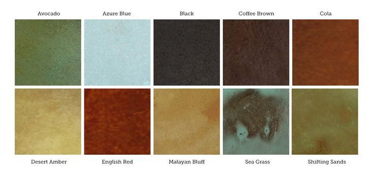 acid stained concrete countertops | Acid Stain Kits for Small Projects - DirectColors.com