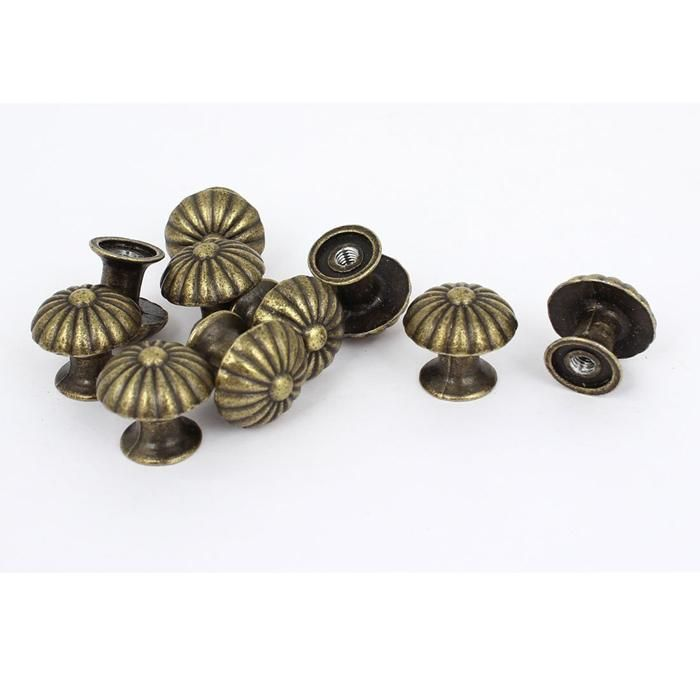 [Visit to Buy] 10PCS 18*17MM  Vintage Small Case Cabinet Cupboard Drawer Pull Handle Dome Knob Jewelry Box Mini Decorative Knobs Bronze #Advertisement