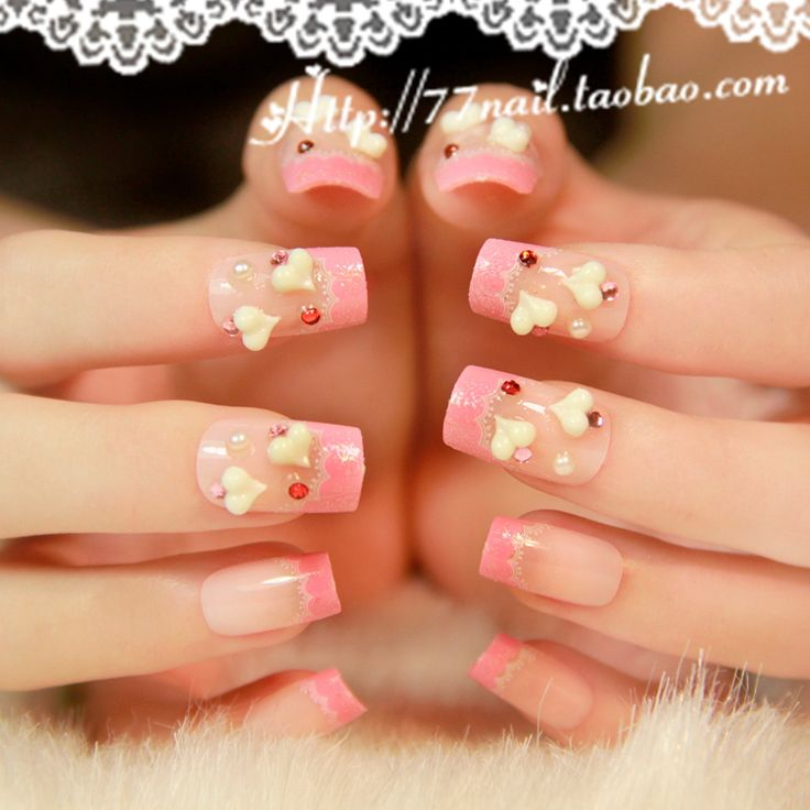 90 best 3d nail art images on pinterest 3d nails nail designs aliexpress buy new 2013 pink lace 3d acrylic nails tipswave french prinsesfo Choice Image