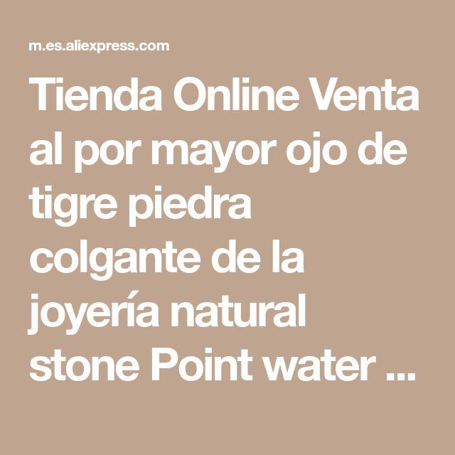 Tienda Online Venta al por mayor ojo de tigre piedra colgante de la joyería natural stone Point water drop colgantes de ojo de tigre encantos 12 unids/lote envío gratis | Aliexpress móvil