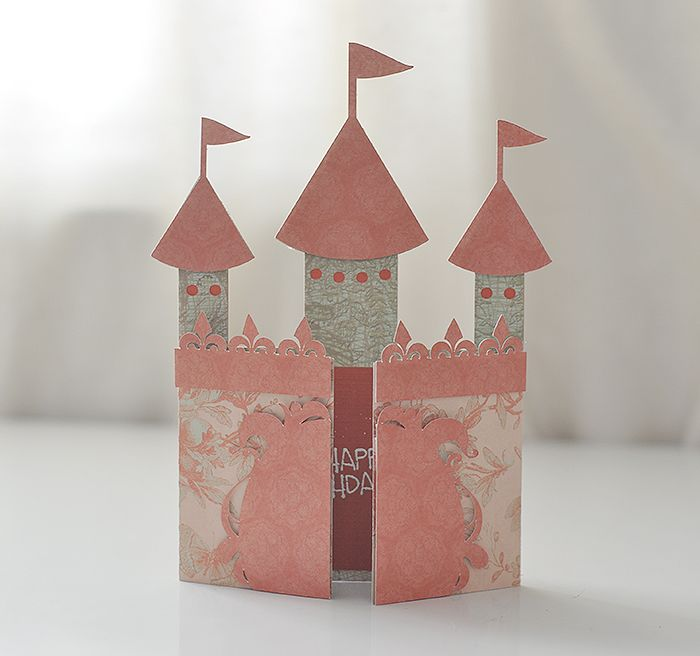 Free Castle Gate-Card SVG cut file #Silhouette #CutFile
