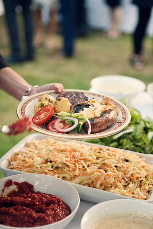 bbq food for outdoor intimate wedding ideas 2015 trends #elegantweddinginvites