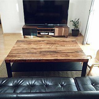 すのこDIY×ローテーブルリメイクのまとめページ   RoomClip (ルーム ... Lounge/ソファー/IKEA/ラグ/DIY/カフェ風/ローテーブル/