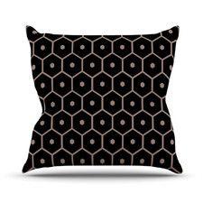 Tiled Mono Throw Pillow