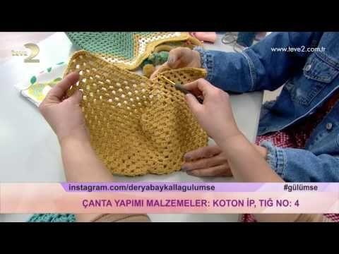 Hasırdan Kolay Çanta Yapımı | DIY | Yasmin - YouTube