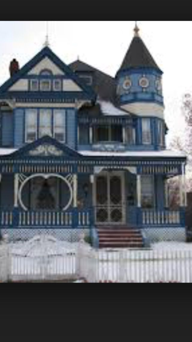 Blue Victorian Home Victorian Houses Pinterest Home Blue And