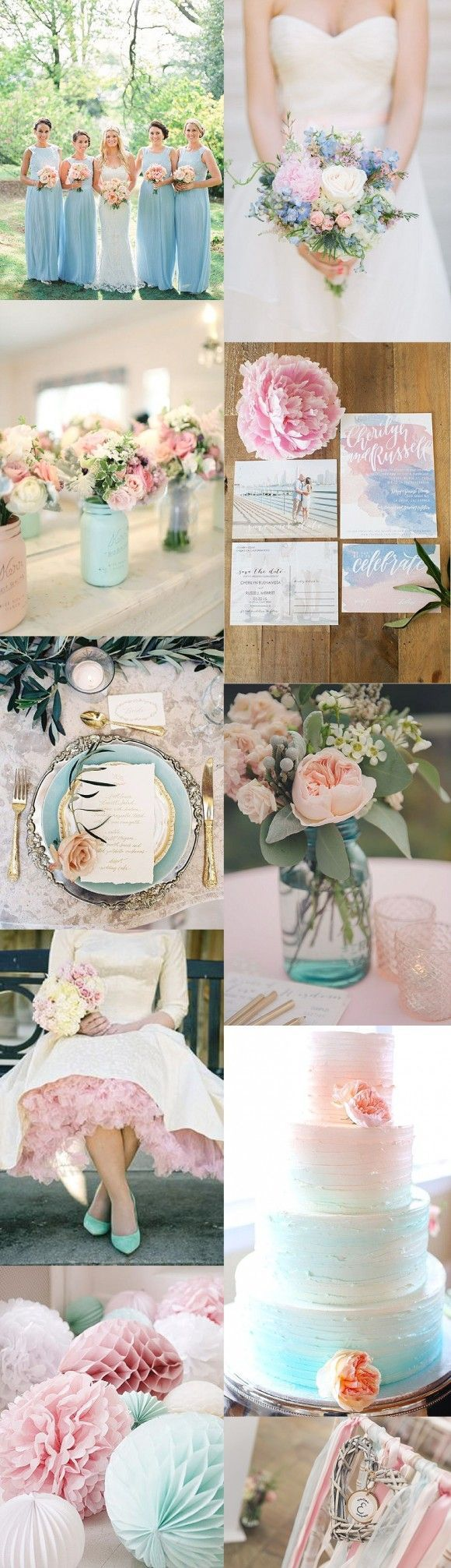 Pantone has introduced two colours for 2016 – rose quartz & serenity - both of which make dreamy wedding colours, either alone or when combined together.