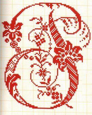 Filomena Crochet e Outros Lavores: - Monogramas - Alfabeto p