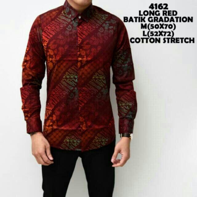 Batik Gradition Long Red @150000