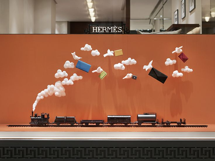 The JoAnn Tan Studio – Autumn installation for Hermès store in Stockholm 2014. www.joanntanstudio.com