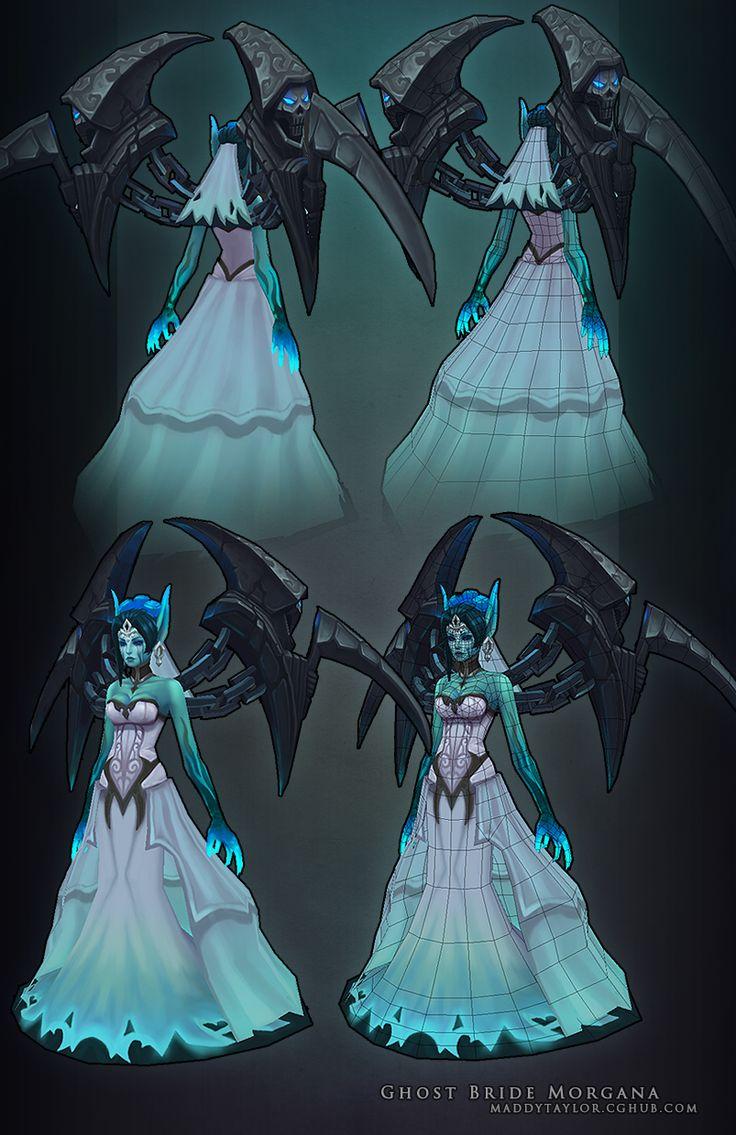 Ghost Bride Morgana breakdown by *MissMaddyTaylor on deviantART / League Of Legends