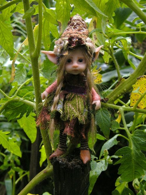 sweet posable pixie fairy fairie ooak by throughthemagicdoor