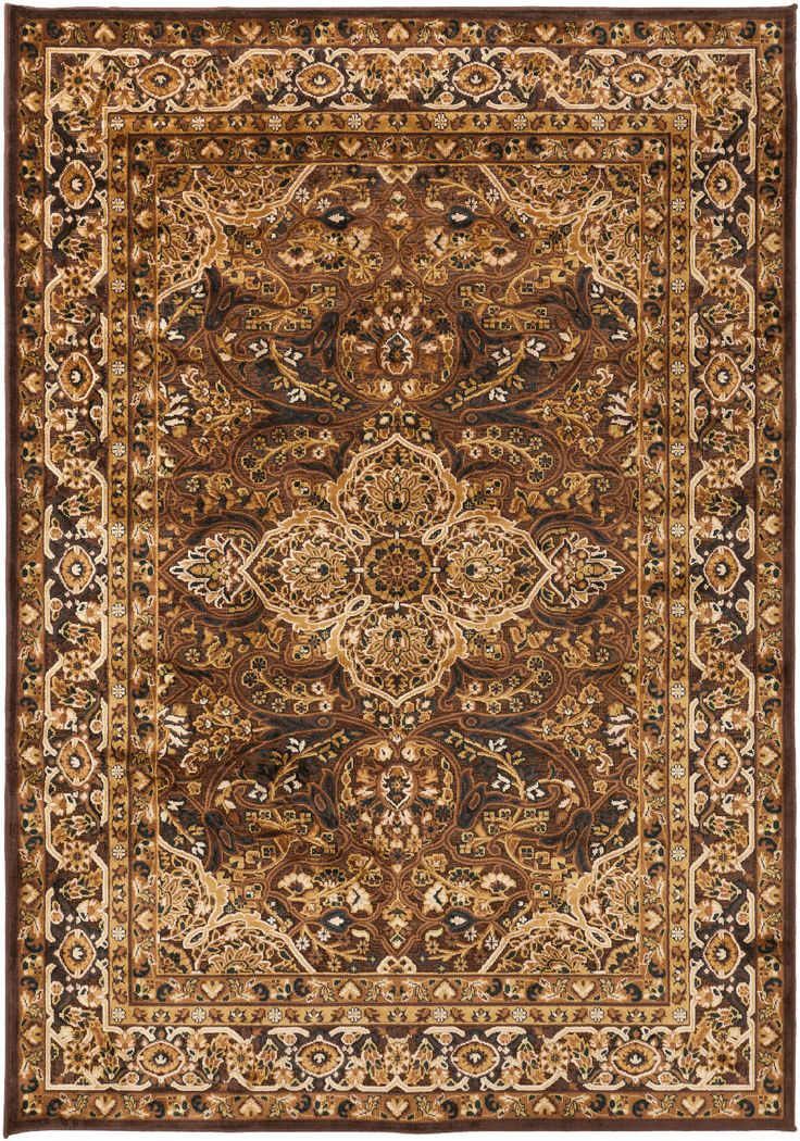 RugStudio Presents Surya Basilica Dark Brown Machine Woven, Good Quality  Area Rug
