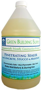 """Green"" penetrating sealer for concrete, stucco and masonry"