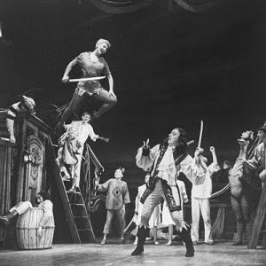 Cyril Ritchard as Captain Hook (to Mary Martin's Peter Pan).  Note the hook is on his right hand because he was Left-handed! :-)