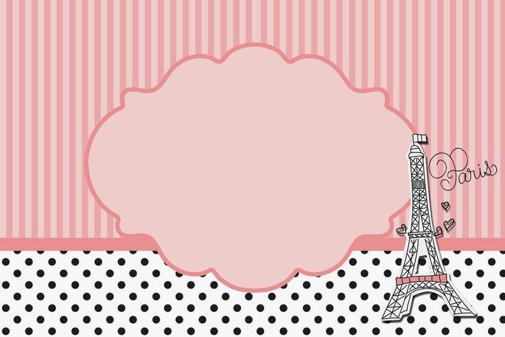 15 Años París: Tarjetas o Invitaciones para Imprimir Gratis.