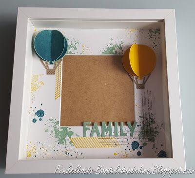 Bilderrahmen, frame, Ikea Ribba Rahmen, Familie, Family, Geschenk, gift, Ballon framelits, stampin up, gorgeous grunge, 3d