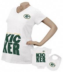 Green Bay Packers Women's Kicker Maternity T-Shirt/Infant Set $0.00 http://www.fansedge.com/Green-Bay-Packers-Womens-Kicker-Maternity-T-ShirtInfant-Set-_739729404_PD.html?social=pinterest_pfid46-06955