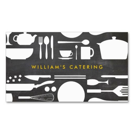 1108 best bakery business cards images on pinterest bakery groupon kitchen collage on chalkboard background business card i love this design it is reheart Choice Image