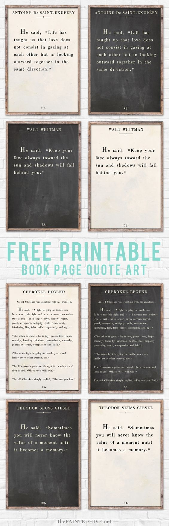 Amazing set of HUGE free printable farmhouse style signs!