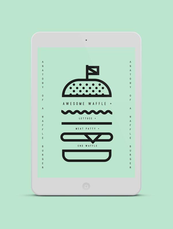 anatomy of a waffle burger