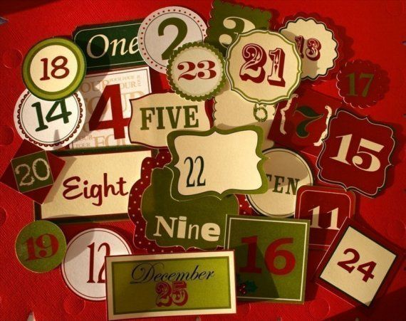 Advent Calender numbers