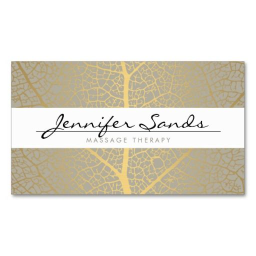 265 best massage business cards images on pinterest business card elegant name with gold tree pattern business card templates flashek Images