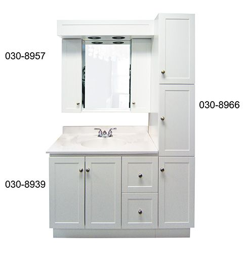 Cuisine Blanche Hotte Noire :  mobiliers de salle de bain salles de bain produits bain dépôt 1